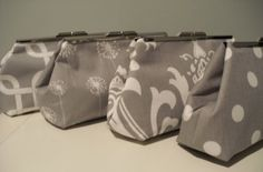 Grey Bridesmaid Clutches on Etsy, $35.00