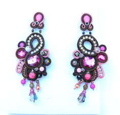 High Fashion Statement Earrings Soutache Earrings by IncrediblesTN, $79.00