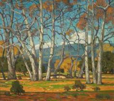William Wendt, Sycamores Entangled, 1923. Oil on canvas. 32 x 36 inches. Collection of Joseph L. Moure