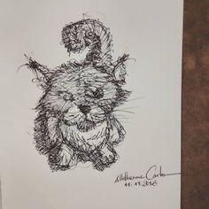 """84 curtidas, 1 comentários - Autoria: @altillierme_carlo (@desenhos_do_alti) no Instagram: """"🐈🐱 Dia 316... #desenhosdoalti #desenhos #sketch #sketchers #sketchbook #art #artlovers #artbrazil…"""""""