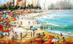 Castro Almeida (Brasil, 1941) Copacabana, Princesinha do Mar, at, 60 x 100 cm