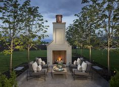classical modern white brick home fireplace