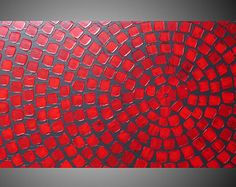 Red and Grey Painting on Canvas wall art Abstract от acrylkreativ