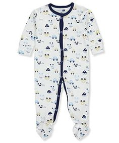Vitamins Baby Baby Boys' Footed Coverall