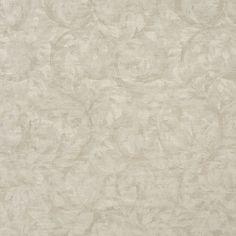 Oyster White Foliage Damask Upholstery Fabric