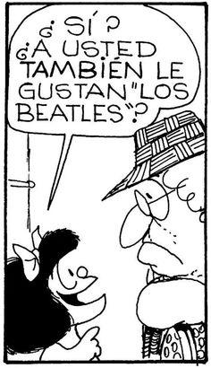 A Mafalda le gustan los Beatles