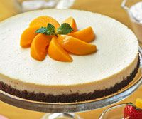 This low-calorie cheesecake recipe brings to mind the sublime combination of peaches and cream. Because it is made with canned peaches, there's no need to wait for peach season to enjoy this guilt-free dessert.