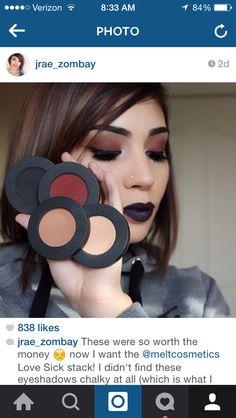 Now if I could afford the love sick stack! makeup ideas for makeup lovers! Makeup Goals, Makeup Tips, Beauty Makeup, Eye Makeup, Hair Makeup, Hair Beauty, Makeup Ideas, Burgundy Makeup Look, Eyeshadow Looks