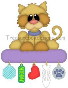 Charmed Treasures (Cat) - Treasure Box Designs Patterns & Cutting Files (SVG,WPC,GSD,DXF,AI,JPEG)