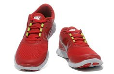 cheap for discount 88693 b7ed2 Gym Red Pure Platinum Reflective Silver Nike Free Run 3 Men s Running Shoes