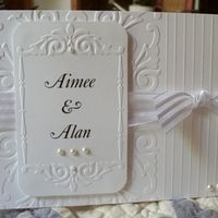 Wedding card with couple's names