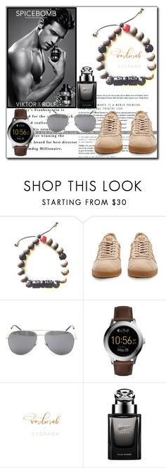 """77Spark 14"" by ruza66-c ❤ liked on Polyvore featuring adidas Originals, Yves Saint Laurent, FOSSIL, Gucci and 77spark"