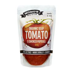 Momo's Meals stand up pouch for soup powder packaging.  #sachet #plastique…