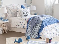 Habitaciones infantiles muy marineras, Zara Home Kids 2015 - Mamidecora.com