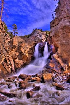 Boulder Falls in Boulder Canyon, Boulder, CO.  So beautiful.  The waterfalls are so nice and the sound is so restful and brings my soul such peace.