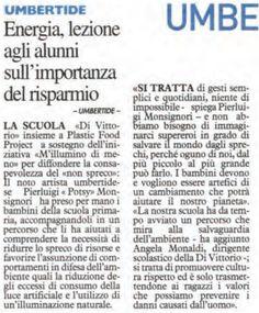 """La Nazione - La """"Di Vittorio"""" con Plastic Food Project UUD a sostegno dell'iniziativa """"M'illumino di meno"""" per diffondere la consapevolezza del non spreco  @caterpillarrai @RaiRadio2 #MilluminoDiMeno #caterpillarrai"""
