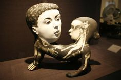 Porcelain sculpture by Sergei Isupov in Body & Soul new international ceramics exhibition at MAD Museum