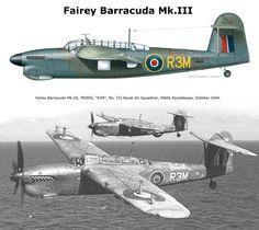 Fairey Barracuda Mk.III Navy Aircraft, Ww2 Aircraft, Military Jets, Military Aircraft, Ww2 Planes, Royal Air Force, Aviation Art, Royal Navy, World War