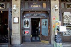 Café Iruña. Pamplona.