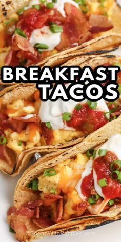 Breakfast Tacos are easy to make, and can also be frozen! Perfect for lunch at the office or for school lunches! #spendwithpennies #breakfasttacos #recipe #breakfast #makeahead #mexican