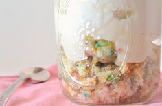"I just fall in love with this awesome idea to serve cake individually in a jar, it's brilliant, different and so fun. I've named it ""Individual birthday cake Trifles"" just like the original recipe from whatkatiesbaking ( I recommend you to give a look to this blog it's full of great recipes and ideas). it …"