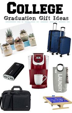 College Graduation Gift Ideas - these are practical (with perhaps an occasional splurge!) for their new life and new apartment or home!