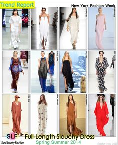 Full-Length Slouchy #Dress #FashionTrend for Spring Summer 2014 #FashionTrends2014 #spring2014 #trends2014