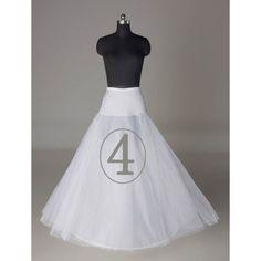 New white net 3- 6 hoops wedding bridal petticoat underskirt slips crinoline