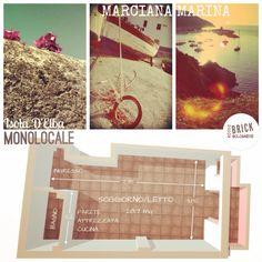 Cartoline Dall'Elba. Monolocale in vendita isola d'Elba - copyright Brickrossobolognese