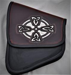 Motorcycle Celtic Cross Solo Swing Arm Bag
