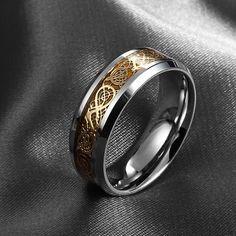 고급 보석 316L 스테인레스 스틸 드래곤 반지 높은 품질 남성 쥬얼리 웨딩 밴드 남성 링 애호가 크리스마스 선물/선물