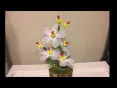 How to make a nylon stocking flowers - YouTube