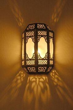 Wall light Kader made by Habibi Interiors Moroccan Room, Moroccan Lamp, Moroccan Design, Moroccan Bathroom, Moroccan Chandelier, Moroccan Lighting, Moroccan Lanterns, Middle Eastern Decor, Middle Eastern Bedroom
