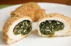 Spinach and Feta Stuffed Chicken Breasts - if you love Spanakopita, you are going to love this chicken!