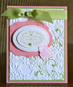 Stampin' Up! Tea Shoppe by Krystals Cards and More: Tea For Two!!