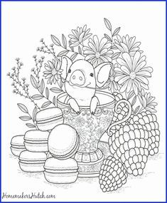 Coloring Pages Flowers And Hearts Fresh Coloring Pages Coloring Pages Hearts And Roses Pig In Tea In 2020 Animal Coloring Pages Coloring Books Coloring Pages