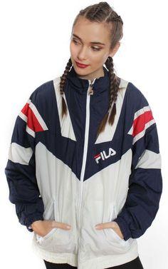6aef7fe42d48 Fila Jacket, Fila Outfit, Fila Vintage, Vintage Sportswear, Floral Frocks,  Girls