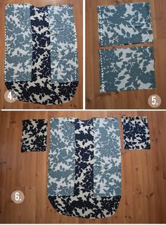 KIMONO COOL {TUTORIAL}...I will add a 2.5 inch band up right front edge, around neck and down left front edge....raw black silk??
