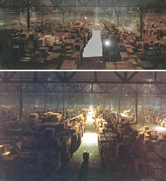 Michael Pangrazio gives the 1980s (and movie history) one of its best-known matte shots at the finish of 1981's 'Raiders Of The Lost Ark'