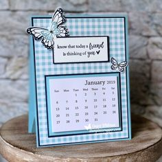 I love having a small calendar on desk and this is the perfect size. Small Calendar, Diy Calendar, Calendar Design, Calendar Templates, Desk Calender, Post It Note Holders, Fun Fold Cards, Card Tutorials, Planner