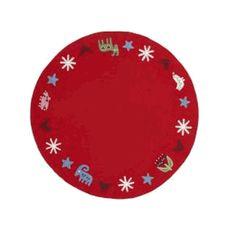 Red wool felt christmas tree mat