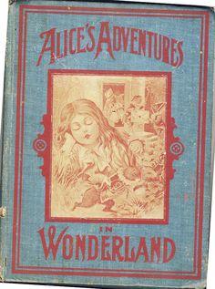 Rare 1903 Antique Alice In Wonderland Book by BlackBaccaraCurio, $225.00