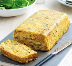 Cheesy Ham and Vegetable loaf.  This would be a great breakfast treat to bake on the weekend and a senior could warm up a slice each day.