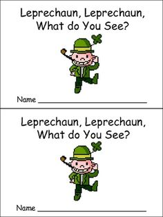 This emergent reader little book is a great way to practice reading with young students, while capturing their excitement about St. Patrick's Day!!...