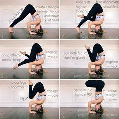"""Mi piace"": 3,245, commenti: 62 - ↠chelsea seaman↞ (@chelseasyoga) su Instagram: ""How I learned.....Tripod Headstand aka Sirsasana 2 (first headstand I ever learned)  1. Create a 🔺…"""