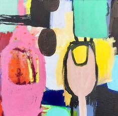 80x80 painting by Hanne CharlotteRosenmeier