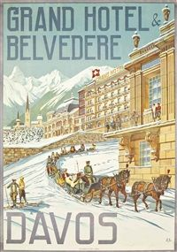 GRAND HOTEL BELVEDERE, DAVOS by Hans Eggimann