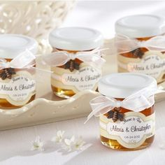 Meant to Bee Personalized Clover Honey - Use as wedding favors or bridal shower party gift.
