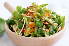 Take the best produce of summer produce and chop up this fresh Asian-style salad.