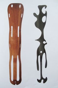 charles & ray eames / plywood leg splint world war II and sculpture carved from a molded plywood leg splint / 1943